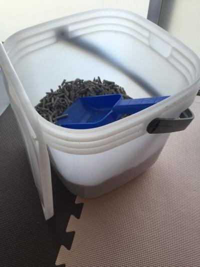 トイレ砂の保管