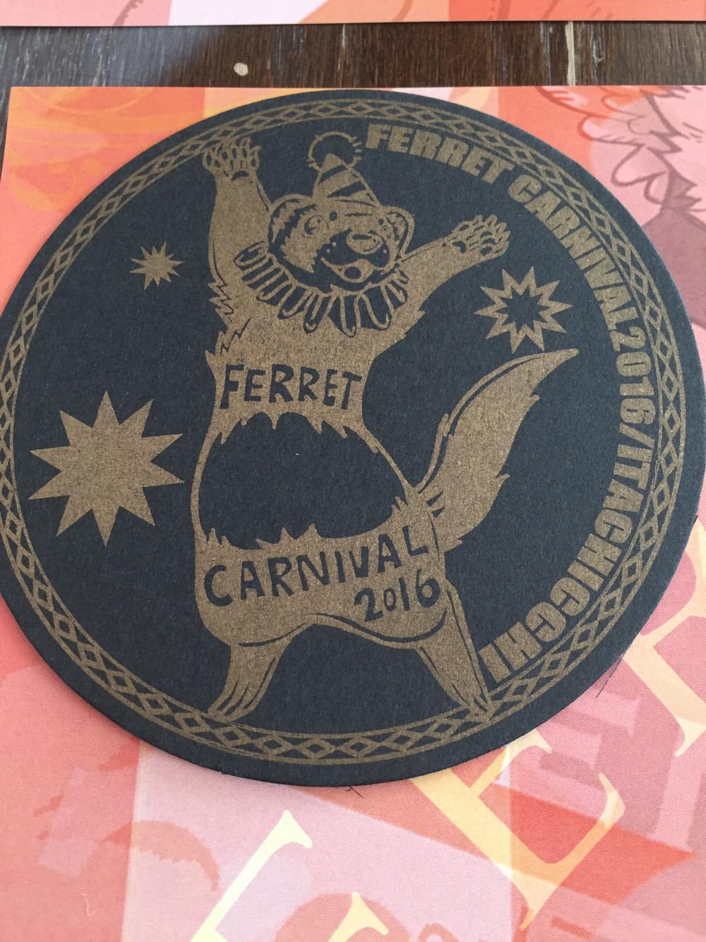 フェレットカーニバル展のコースター